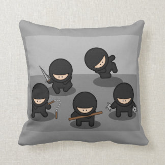 5 Little Cartoon Ninjas Cushion