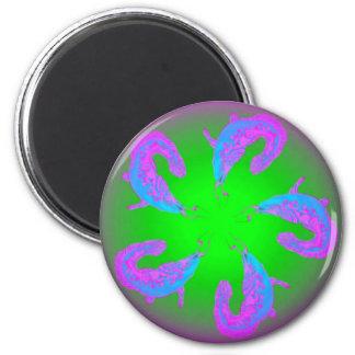 5 Lucky Catfish #1 6 Cm Round Magnet