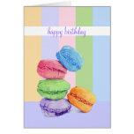 5 Macarons stripes Birthday Card
