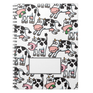 5 Minute Doodle Cow Journal Spiral Notebook