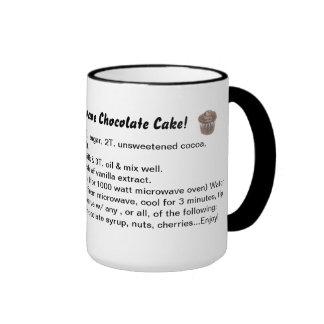 5-Minute Microwave Chocolate Cake Recipe Mug