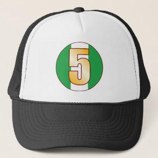 5 NIGERIA Gold Trucker Hat