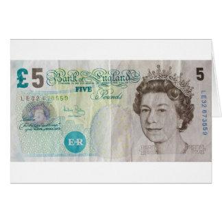 £5 note - horizontal card