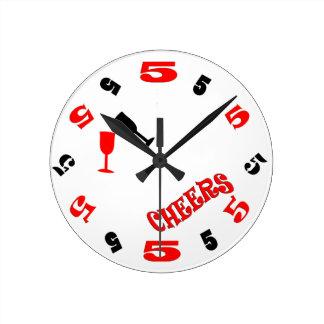 5 O Clock Cheers Wall Clock white