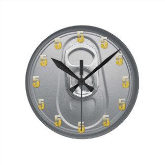 5 O'Clock Beer Round Clock