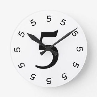 5 o'clock Simple Wall Clock 2