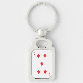 5 of Diamonds Key Ring