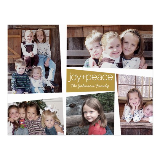 5 Photo Holiday Collage Retro Joy and Peace