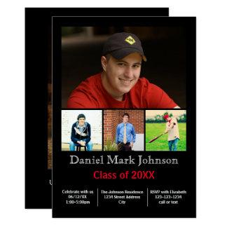 5 Photos Collage Vertical - Grad Announcement
