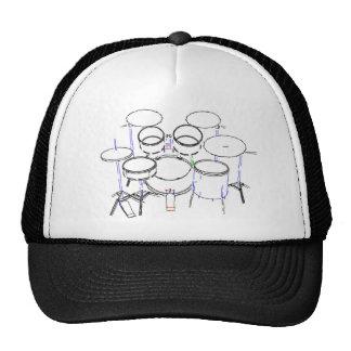 5 Piece Drum Kit: Marker Drawing: Cap