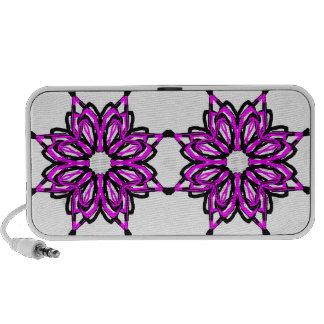 5 Pink Transparent iPod Speaker