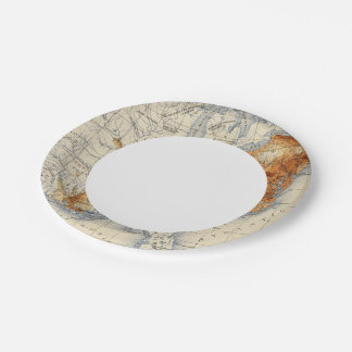 5 Population 1820 7 Inch Paper Plate
