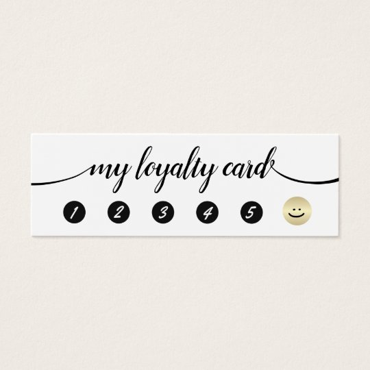 5 Punch Handwritten Calligraphy Loyalty Mini Business Card