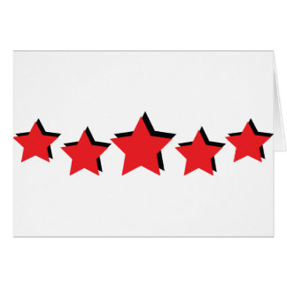 5 red stars deluxe cards