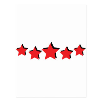 5 red stars deluxe postcard