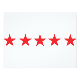 5 red stars icon deluxe personalized invitation