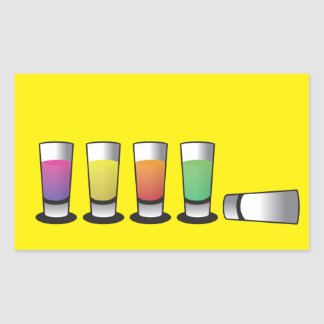 5 Shooters 1 down 4 to go! Rectangular Sticker