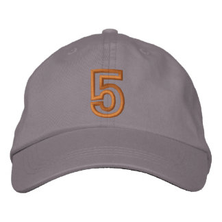 """5"" Small Athletic Number Embroidered Hats"