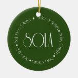 5 Solas Christmas Tree Ornaments