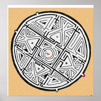 5 solutions maze design print