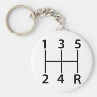 5 speed shift pattern basic round button key ring