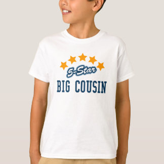 5-Star Big Cousin new baby announcement t-shirts