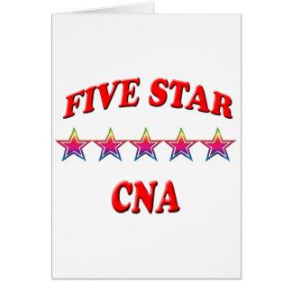 5 Star CNA Greeting Card