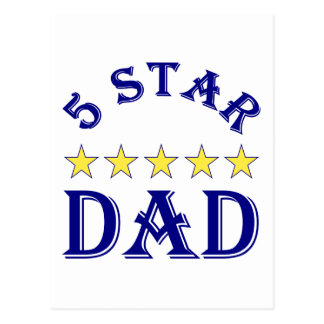 5 Star Dad Postcard