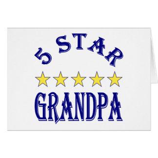 5 Star Grandpa Greeting Card