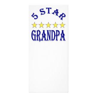 5 Star Grandpa Full Color Rack Card