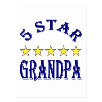 5 Star Grandpa Postcard