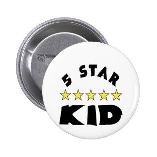 5 Star Kid 6 Cm Round Badge