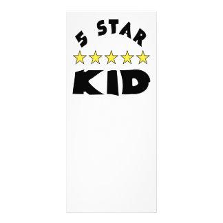 5 Star Kid Custom Rack Card