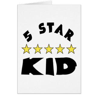 5 Star Kid Greeting Card
