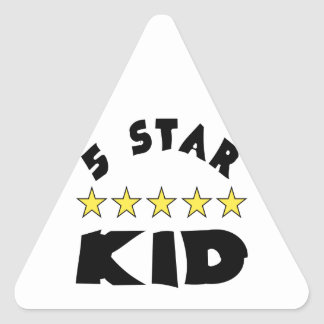 5 Star Kid Triangle Sticker