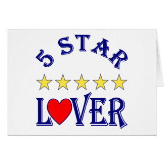5 Star Lover (Blue) Greeting Card