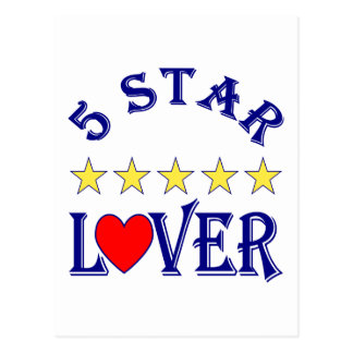5 Star Lover (Blue) Postcard