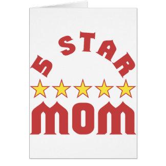 5 Star Mom Greeting Card