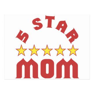 5 Star Mom Postcard