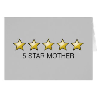 5 Star Mother - Mother s Day Gifts Card