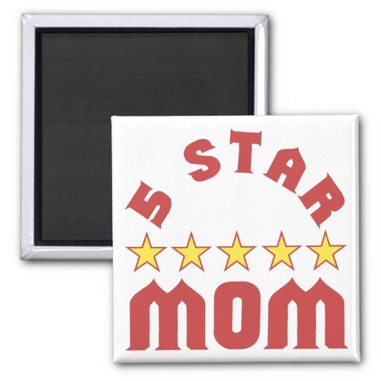 5 Star Mum Square Magnet