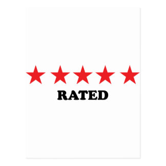 5 star rated egoist post card