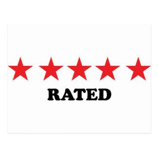 5 star rated egoist postcard