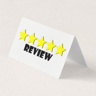 5 Star Review Card