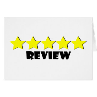 5 Star Review Greeting Card