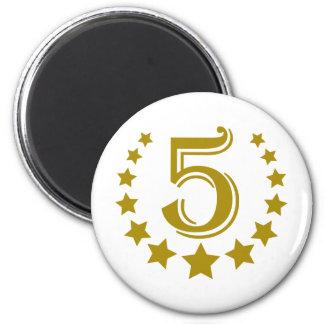 5-stars-Birthday.png 6 Cm Round Magnet