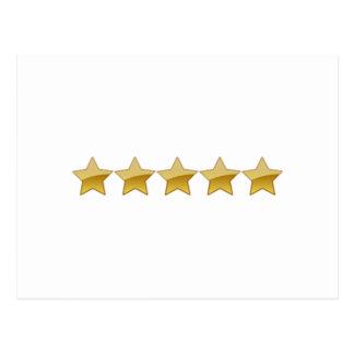 5 Stars Post Card