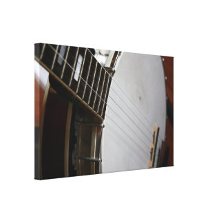 5 String Banjo Wrapped Canvas Stretched Canvas Prints