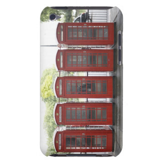 5 telephone boxes in London Barely There iPod Covers