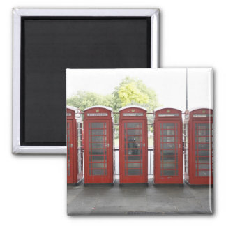 5 telephone boxes in London Magnet